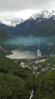Bilde Geirangerfjord cruiseskip, ©Jürgen Hermanns